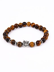 Owl Beads Bracelet Energy Natural Stone String Bracelet 02