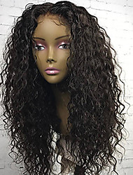 New Style Brazilian Virgin Hair Glueless Lace Wigs Kinky Curly Lace Front Human Hair Wigs Virgin Remy Hair Curly Wig for Black Woman 180% Density