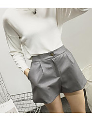 Women's Low Rise Micro-elastic Shorts Pants,Simple Relaxed Solid
