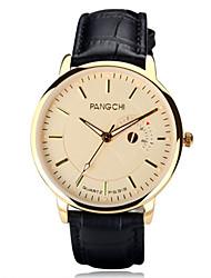 Men's Wrist watch Quartz Water Resistant / Water Proof Genuine Leather Band Black Brown