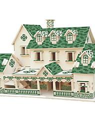 Kit Faça Você Mesmo Quebra-Cabeças 3D Quebra-Cabeça Brinquedos Construções Famosas Casa Arquitetura 3D Não Especificado Unisexo Peças