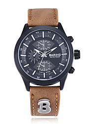 Fashion Men's Round Silicone Watch Movement Type Wrist Watch Cool Unique Waterproof Leather Watch3 Color