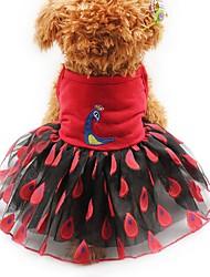Chat Chien Robe Smoking Vêtements pour Chien Soirée Décontracté / Quotidien Mariage Animal Jaune Rouge Rose
