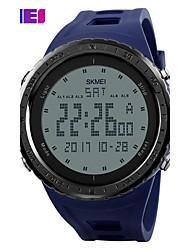 SKMEI Муж. Спортивные часы электронные часы Цифровой PU Группа Черный Синий Зеленый Серый