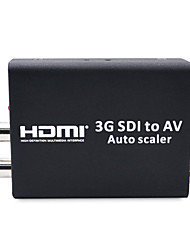 HD 3G SDI to CVBS Converter Auto Scaler Support 1080P L/R Audio Output SD-SDI HD-SDI Signal to Normal TV