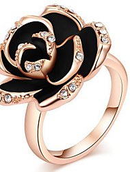 Women's Ring Settings Band Rings Ring RhinestoneBasic Unique Design Friendship Classic Elegant Floral Durable Sexy Fashion Adorable