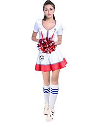Costumes de Pom-Pom Girl Tenue Femme Spectacle Fermeture 2 Pièces Manche courte Taille haute Jupes Hauts