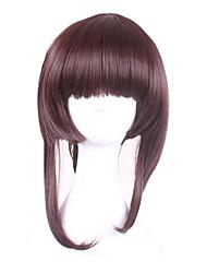 Synthetic Wigs Cosplay Wig Onmyoji Kagura Short Brown Wigs for Women Costume Wigs Capless Wigs