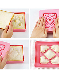 Sandwich Mold DIY Tool Love Heart Shape Bread Toast Maker Mould Cutter Love Breakfast Kitchen