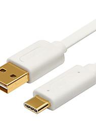 USB 3.1 Tipo C Cabo adaptador, USB 3.1 Tipo C to USB 2.0 Cabo adaptador Macho-Macho 1.0m (3 pés)