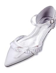 Damen Hochzeit Schuhe Komfort D'Orsay und Zweiteiler Satin Frühling Sommer Hochzeit Kleid Party & FestivitätSchleife Spitze Rüschen