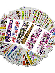 48pcs  Full Version of The New Flower Watermark Stickers