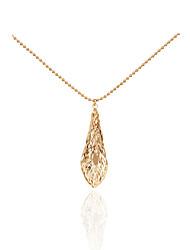 Women's Pendant Necklaces Rhinestone Leaf MetallicUnique Design Pendant Tag Geometric Tassels Movie Jewelry Fashion Personalized