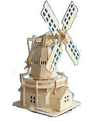 Puzzles Puzzles 3D Blocs de Construction Jouets DIY  Rectangulaire Bois Naturel