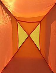 3-4 personnes Tente Unique Tente pliable Une pièce Tente de camping 1000-1500 mm Fibre de Verre Térylène Ruban adhésif argentéEtanche
