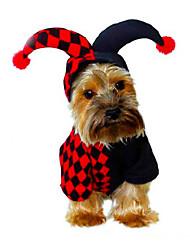 Dog Costume Dog Clothes Halloween Christmas New Year's Geometric Black