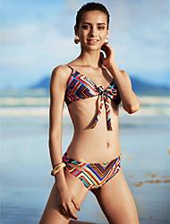 Mulheres Biquíni Floral Nadador Sem Aro / Com Bojo Nylon Mulheres