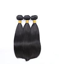 Long Size 3Bundles 300g Brazilian Virgin Human Hair Wefts 130% Density Natural Black Straight Human Hair Weaves 100% Unprocessed Human Hair Extensions