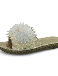 Для женщин Сандалии Удобная обувь Мода Полиуретан Весна Лето Повседневные На выход Удобная обувь Мода На плоской подошвеЗолотой