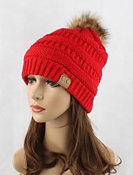 Для женщин Головные уборы Очаровательный На каждый день Изысканный и современный Вязаная одежда Вязаная шапочка Широкополая шляпа,Осень