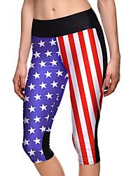 Mujer Pantalones ajustados de running Gimnasio, Correr & Yoga 3/4 Medias/Corsario para Yoga Jogging Ejercicio y Fitness Elastán Terileno