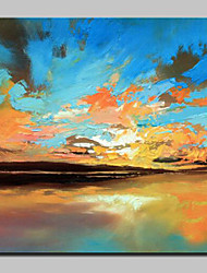 Large Size Hand-Painted Sunset Scenery Oil Painting On Canvas Wall Art Picture For Home Decoration No Frame