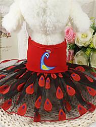 Chien Robe Vêtements pour Chien Décontracté / Quotidien Animal Jaune Rouge Rose
