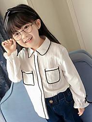 Girls' Stripe Shirt,Polyester Spring Fall Long Sleeve