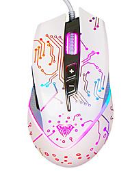 Aula usb 3500dpi 7 ключей игра мышь белый с кабелем 180 см