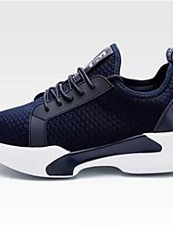 Men's Sneakers Comfort Tulle Spring Fall Casual Walking Comfort Lace-up Flat Heel Black Navy Blue Grey 2in-2 3/4in