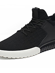 Men's Sneakers Comfort Tulle PU Spring Casual Black Ruby Flat