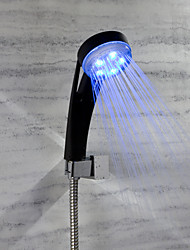 Rain Shower Feature for  Rainfall LED indicator  LED Shower Head Black Shower hand Temperature change