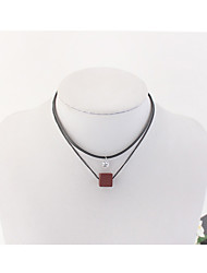 Women's Choker Necklaces Square Acrylic Alloy Euramerican Fashion Double-layer Jewelry Daily Casual 1pc