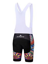 Miloto Fahrradträgerhosen Damen Fahhrad Bib - Shorts/Kurze radhose MIT Trägern Gepolsterte Shorts Radfahren Elasthan Polyester Radsport