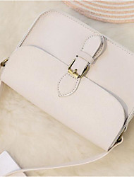 Women Shoulder Bag PU All Seasons Casual Outdoor Round Magnetic Black White