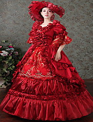 Steampunk® Red Marie Antoinette Renaissance Dress Christmas Ball Gown Steampunk Reenactment Theatre Clothing