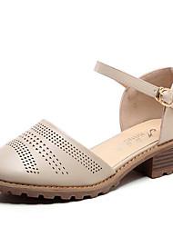 Mujer Sandalias Confort Microfibra Primavera Verano Casual Confort Negro Beige 5 - 7 cms