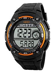 SKMEI Муж. Спортивные часы электронные часы Цифровой Защита от влаги Хронометр PU Группа Черный