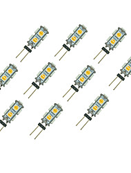 1.5W LED Crystal Light G4 9SMD 5050 Warm White/White DC12V 10Pcs