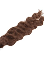Neitsi 20'' 50g/lot 1g/s Natural Wave Keratin Fusion U Tip Human Hair Extensions Curly Pre bonded Hair 6#