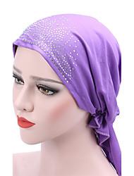 Femme Chapeau Fleur Coton Capeline,Solide Printemps/Automne Eté Couleur mixte