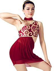MiDee Ballet Dancewear Adults' Children's Floral Sequined Maxi Dancing Dress Modern Dance Lyrical Dress