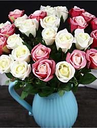 10 предметов 10 Филиал Шелк Розы Букеты на стол Искусственные Цветы