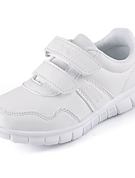 Boys' Loafers & Slip-Ons Comfort Leatherette Spring Fall Casual Walking Comfort Magic Tape Flat Heel White 2in-2 3/4in