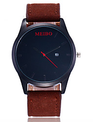 Hombre Reloj de Vestir Reloj de Moda Reloj creativo único Reloj Casual Simulado Diamante Reloj Reloj de Pulsera Chino Cuarzo Piel Banda