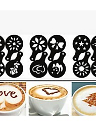 12PCS Plastic Fancy Coffee Making Printing Model Minimalist Design Dusting Pad
