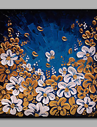 Hand-Painted Floral/Botanical Square Contemporary High Quality one Piece Oil Painting On Canvas