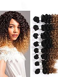 Кудрявый Afro Kinky плетенки Наращивание волос косы волос