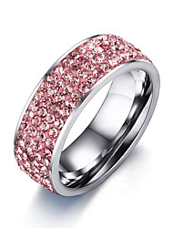 Women's Ring  Adorable Elegant AAA Cubic ZirconiaTitanium Steel Ring Jewelry For Wedding Anniversary Party/Evening