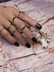 1Set Women's Ring Geometric Metal Alloy Resin Alloy Circle Jewelry For Birthday Event/Party Date